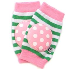 Bella Tunno Happy Knees Baby Knee Pads, Preppy Pink Cupcake