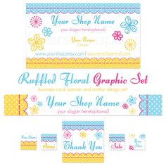 Etsy Banner Business Card and Avatar Set  by BearsGraphicDesign, $25.00