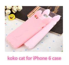 iPhone 6 iPhone 6s Cartoon Case Luxury Cute Cartoon 3D Koko Cat soft silicone Case for iPhone 6 6s