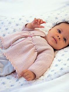 Matinee Coat from Baby Cashmerino by  at KnittingFever.com