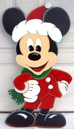 Affordable, handcrafted wood Christmas Yard Decorations & Displays that brighten the holiday spirit of anyoneThe 10 Christmas Decoration Tips You Must KnowIndoor and Outdoor Christmas DecorationsA Guide to Christmas Party Games Disney Christmas Decorations, Christmas Yard Art, Mickey Mouse Christmas, Christmas Wood Crafts, Noel Christmas, Christmas Signs, Christmas Projects, Holiday Crafts, Christmas Displays