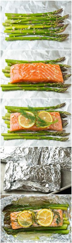 Baked Salmon and Asparagus in Foil « fullwoo
