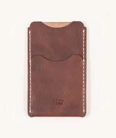 """NUT BROWN HORWEEN DERBY LEATHER MADE IN USA — 5.75"""" X 3.5"""" X .25""""  Hand cut and sewn with painted edges."""
