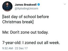 I ZONED OUT ALL YEAR