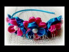 Diadema con flores de listón