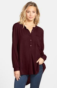Lush Clothing High/Low Tunic Blouse | Nordstrom