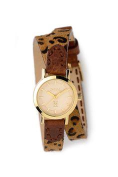 Leopard Wrap Watch #anthropologie