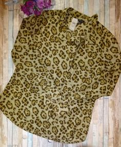 Ann Taylor Leopard Long Sleeve Button Down Blouse Shirt Top Sz 12 NWT Career | Clothing, Shoes & Accessories, Women's Clothing, Tops & Blouses | eBay!