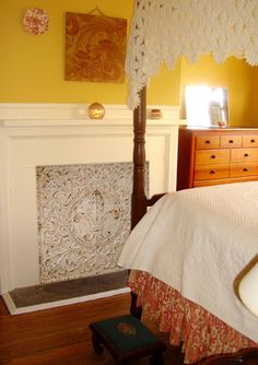 Tin fireplace cover | House | Pinterest | Fireplace cover, House ...