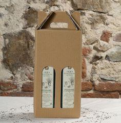 Valigetta 2 bottiglie Olio Extra Vergine. Azienda produzione: Oleificio Perrone