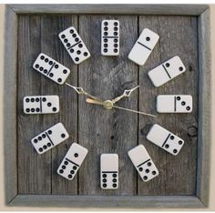Domino Clocks.. love the idea, just need to know someone with a love for dominos