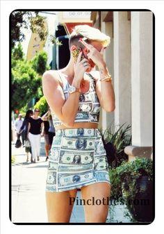 Miley Cyrus Dollar Dress :)  #Miley #Cyrus #Summer #Clothes