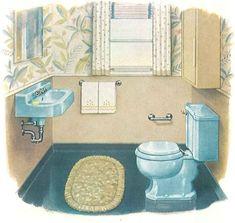 1950 Kohler Vintage Blue Bathroom Bathrooms Colors