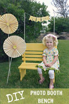 Whatever Dee-Dee wants, she's gonna get it: DIY Photo Booth Bench by guest blogger Bridgey Widgey | Recipes | Craft Tutorials | Fashion | Motherhood
