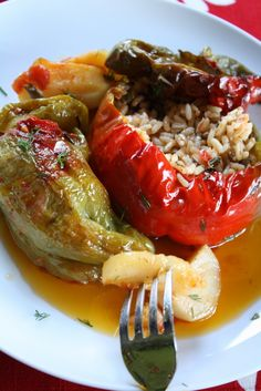 ... on Pinterest   Stuffed Tomatoes, Rice and Greek Stuffed Peppers
