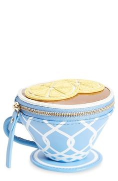 Or pack with your own favorite Tea Bags.kate spade new york 'tea cup' leather coin purse available at Unique Purses, Unique Bags, Cute Purses, Cheap Purses, Red Purses, Real Leather Wallet, Leather Bags, Leather Wallets, Leather Tooling