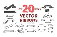 Free Hand Drawn Vector Ribbons