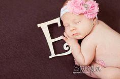 Pink Headband, Easter Headband, Light Pink White Lace Shabby Flower Elastic Headband baby girl newborn photography prop on Etsy, $8.95
