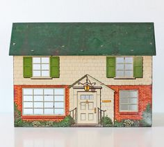 Vintage Toy House by bellalulu on Etsy, $52.00