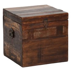 The perfect accent to any decor, this Bali wood storage box highlights a beautiful reclaimed wood construction. This accent piece also offers a natural wood finish and can be used as a side table.