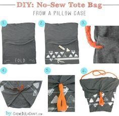 diy purse tote bag pillow case by shannon