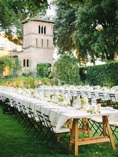 Garden wedding reception with planning by Yifat Oren