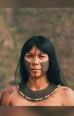Native American Girls, Native American Beauty, People Around The World, We The People, Nature Symbols, Xingu, Tribal Warrior, Indigenous Tribes, Tribal People