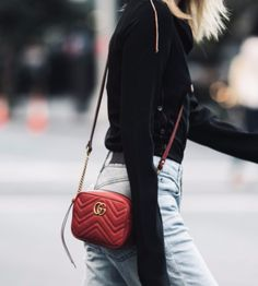 e0f8bcdcb GG Marmont Matelasse Mini Bag at The Spicy Stiletto Store | Lookave - Bag -  Red