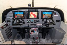 Cockpit of the Grand Caravan with the Garmin 1000 powered up and every detail visible. Windows are covered up to protect it from the sun. - Photo taken at Nairobi - Wilson (West) (WIL / HKNW) in Kenya in March, Cessna Caravan, Sun Photo, Grand Caravan, March 2014, Interesting Stuff, Drones, Airplanes, Aviation, Aircraft