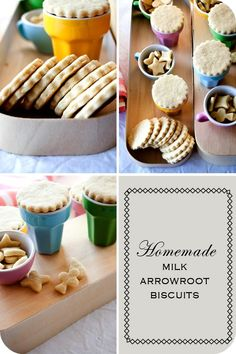 Homemade Milk Arrowroot Biscuits (will need to tweak this to replace the flour, sugar and canola oil)