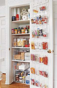 Tried this and it is amazing, freed up so much pantry space! No more toddler snacks floating around all over the place. This isn't my pantry but illustrates the idea! (Over the door shoe rack used for pantry organizing.)