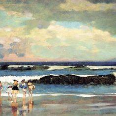 Winslow Homer, Sulla spiaggia, Long Branch, New Jersey. #art #artists #homer