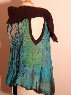 Felted reversible vest by tincthanddyes, via Flickr