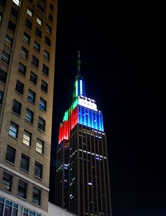 Empire States Building - Red/Blue/Red - June 25, 2012 - Spiderman ...
