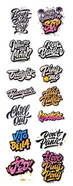 Kirill Richert on Behance Tattoo Lettering Fonts, Font Art, Graffiti Lettering, Typography Fonts, Design Logo, Lettering Design, Graphic Design, Graffiti Doodles, Graffiti Drawing