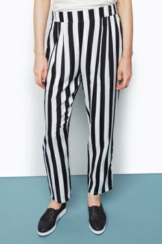 BLACK Side-stripe trousers  Dolce & Gabbana  Loose fit byxor