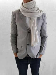 Grey Stone, Natural Brown, Fine Men, Wool Scarf, Merino Wool, Heather Grey, Scarves, Burgundy, Jackets