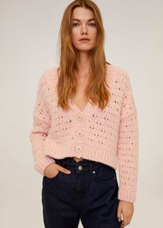 Openwork knit cardigan -  Women | Mango USA