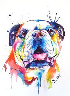 Custom Watercolor Splash Pet Portrait on PAPER / Weekday Best