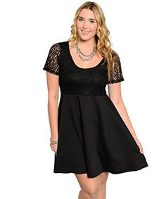 e9763df76a2 Women's Plus Size Short-sleeve Combination Short Dress - Overstock™ Shopping  - Top Rated Dresses