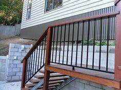 Aluminium Balustrade - Just Balustrading, OutdoorHomeImprovement, Melbourne, VIC, 3000 - TrueLocal Deck Balustrade Ideas, Outdoor Handrail, Balcony Railing Design, Outdoor Stairs, Deck Railings, Deck Design, Aluminium Balustrades, Aluminum Handrail, Porch Timber
