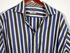 Sean John Button Down Long Sleeve Shirt Mens Size Xl Navy Blue Large SJ Crest #Shopping #Style #Clothing #eBay @eBay! http://r.ebay.com/snAeCO