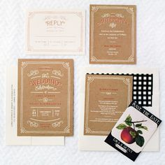 Lora & Grant's Wedding Invitations from Minted!
