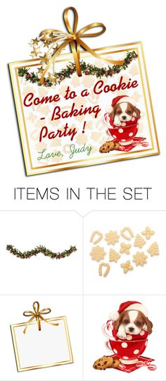 """Pup-in-a-Cup Cookie Party"" by judymjohnson ❤ liked on Polyvore featuring art"