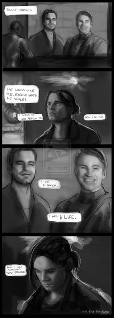DAMN IT, BUCKY, DON'T TALK LIKE THAT!  You're still Steve's best friend!