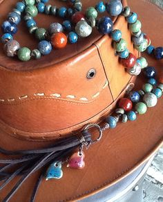 HeaRTs BoHo NeCKLaCe LeaTHeR TaSSeL HaND KNoTTeD/ by Ivanwerks