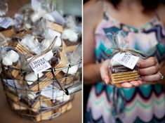Backyard Bridal Shower, Pink and Yellow Party Decor, S'more Lovin', http://www.lizandryan.com