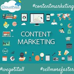Content Marketing - is a strategic marketing approach focused on creating and distributing valuable, relevant, and consistent content to attract and retain a clearly-defined audience — and, ultimately, to drive profitable customer action. Another Way To Prove That CloudNet360 #sellmorefaster