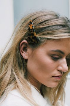 Toirtoise shell hair slide, Gucci inspired hair slide