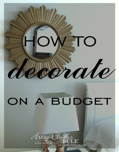 Master Bedroom Makeover on a Budget - BUDGET MAKEOVER $20 Mirror and THRIFT STORE lamp makeover - artsychicksrule
